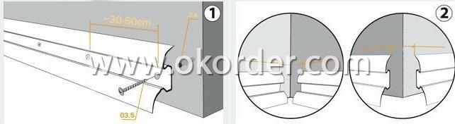 installation instruction of Skirting Board(Match 8mm Floor)