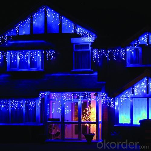 LED Icicle Light Blue Rubber Wires  IP44