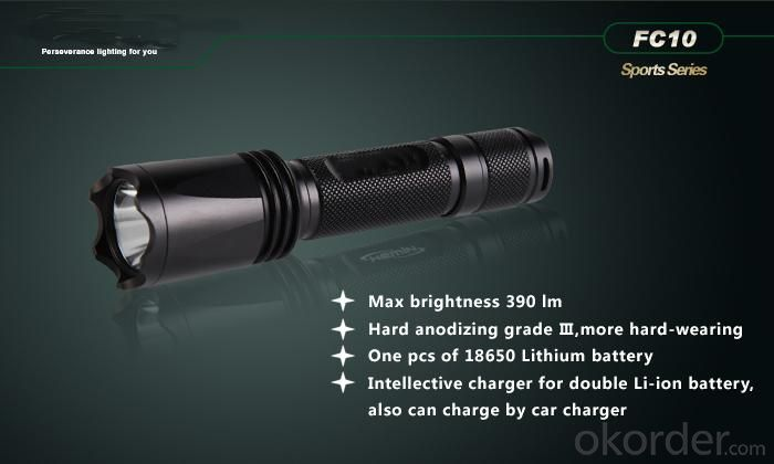 Christmas Gift-Aluminum 0.5w LED Flashlight With Portable