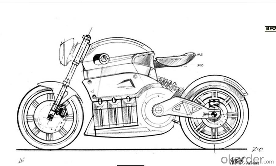 Electric Motorcycle 750W