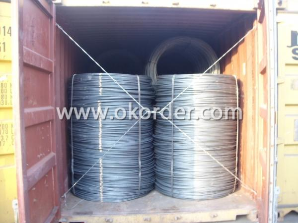 WIRE ROD SHIPPED BY CONTAINER