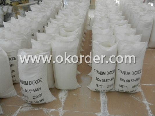 the factory shop on packing of Titanium dioxide .