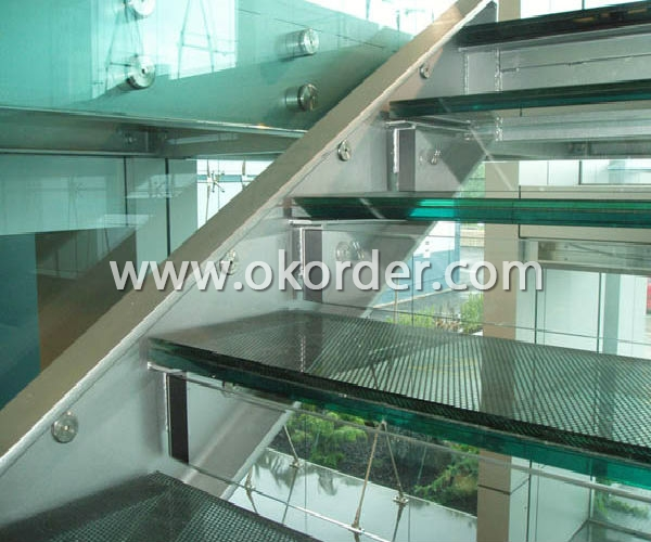 6.38mm/8.38mm/10.38mm/12.38mm clear laminated glass for stairs