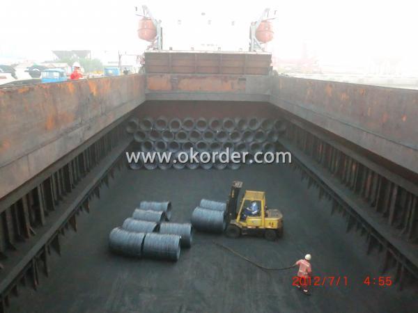 Wire Rod shipped by bulk vessel