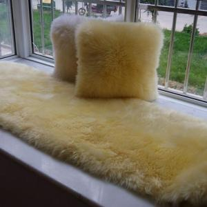 Colorful Natural and Faux Sheepskin Rug