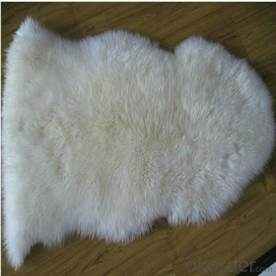 Natural Sheepskin Machine Made Carpet of Cow Sheep