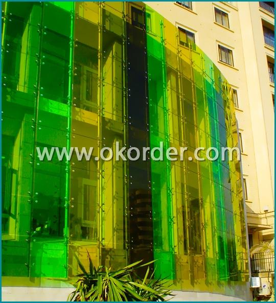 Colored Laminated Glass for Curtain Walls