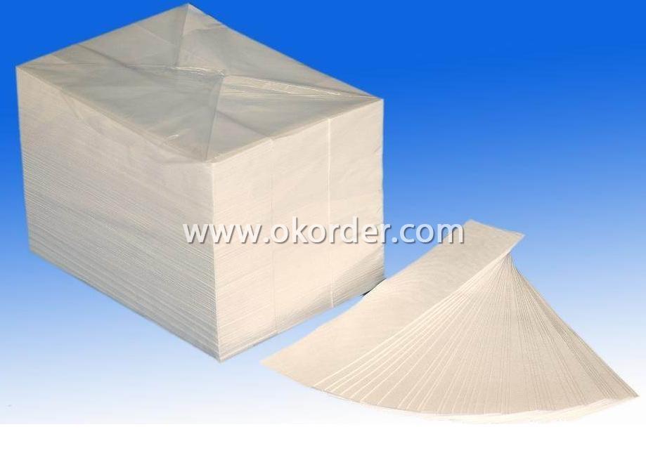 Fiberglass battery separator tissue