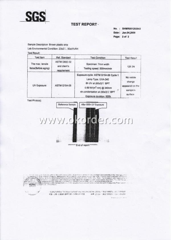 Rattan Test Report