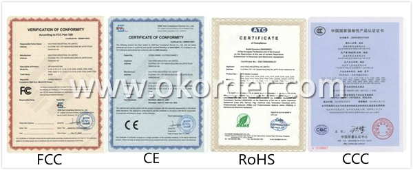 Certificates of Automotive GPS Navigator With 8G Memory