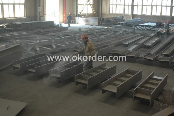 steel structure painting area