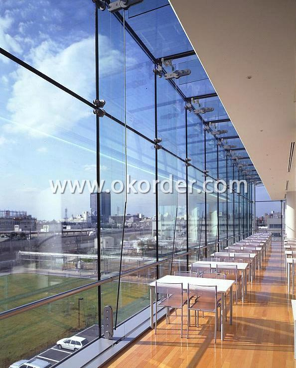 2mm clear float glass for curtain walls