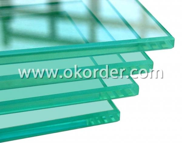 5-25mm clear safety toughened glass