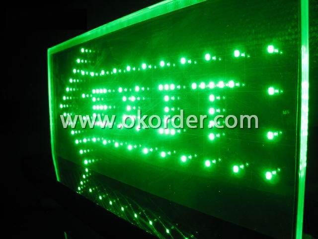 LED Glass for signal