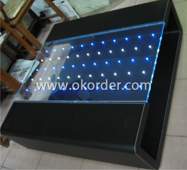 LED Glass for table