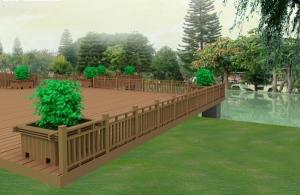 Wood Plastic Composite Fence/Rail CMAX SF019