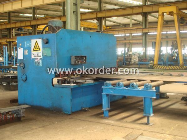steel structure plate shearing machine