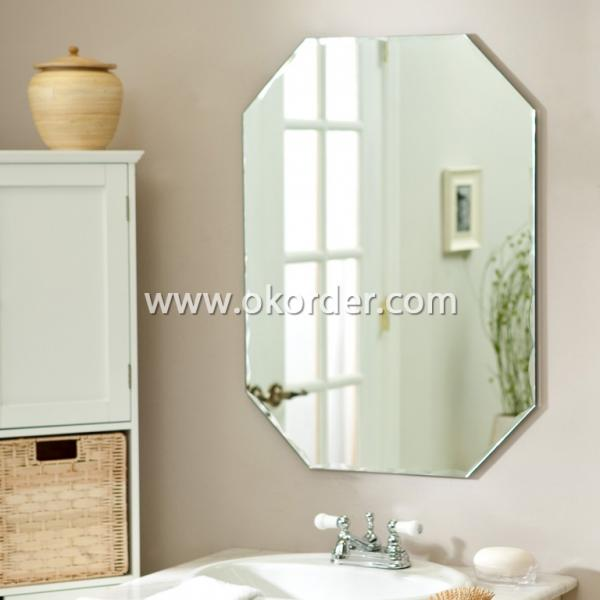 3-6mm aluminium mirror with beveled eges, flat eges, pencil eges, polished eges