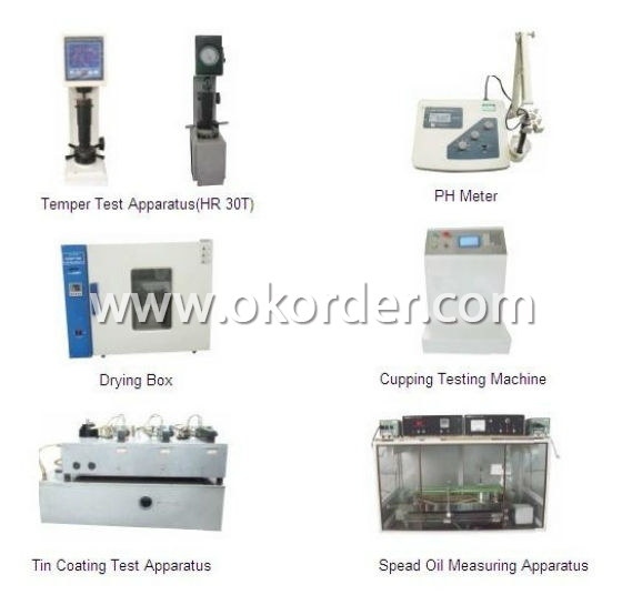 Quantity Control System For Tinplate