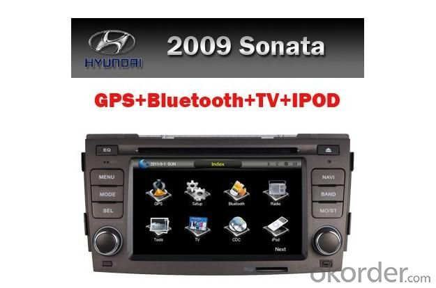 SONATA 09 Car DVD Player and GPS Media System Touch Screen Bluetooth