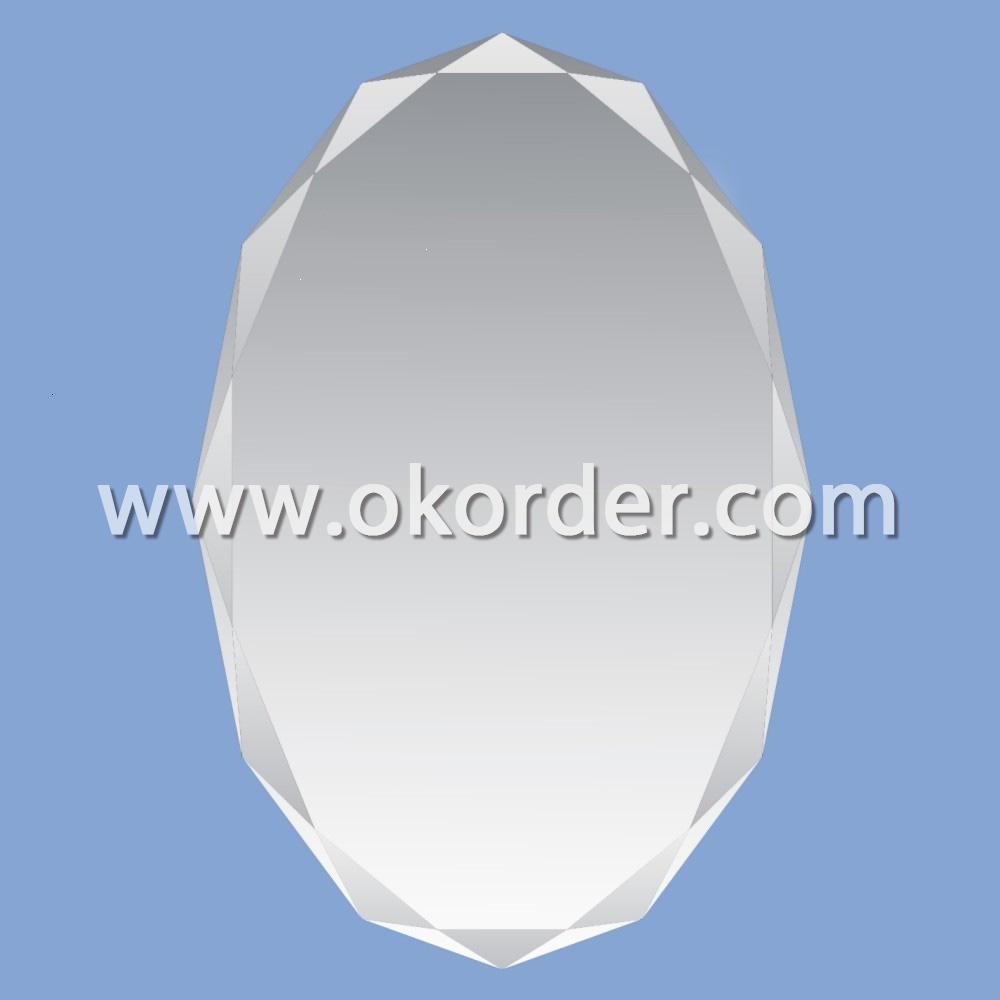 2-6mm oval silver mirrors with flat polished edges, pencil polished edges, beveled edges, ogee edges