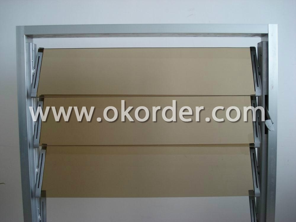 3-12mm Euro bronze float glass for louver glass