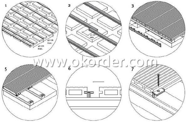 Wood Plastic Composite Decking CMAX S100H25