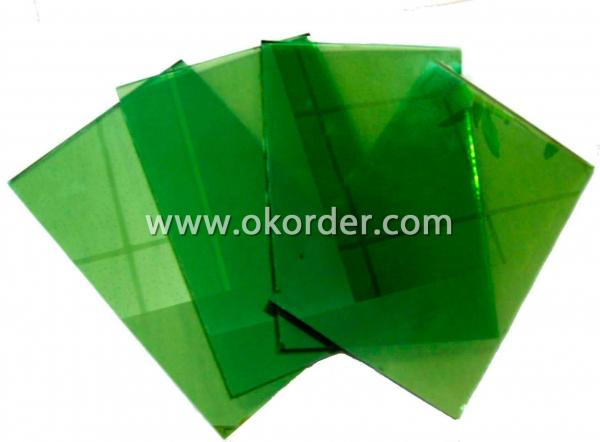 3-6mm dark green float glass