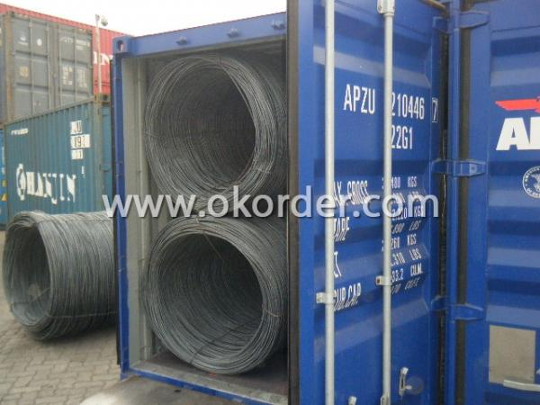 wire rod in container