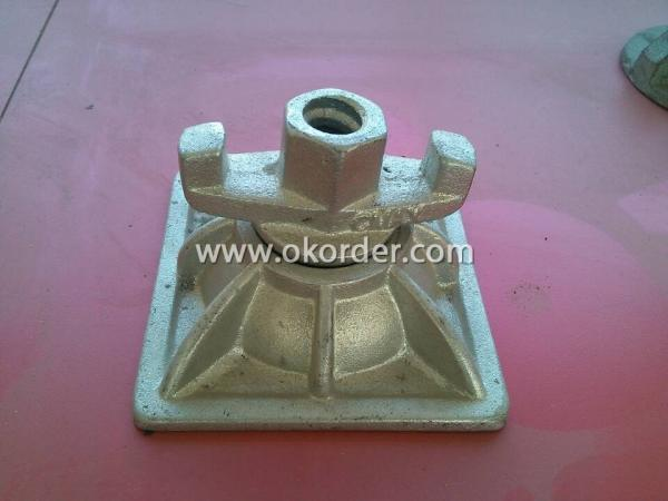 Cold Galvanized Tie Rod Nut With Base Plate For 90mm Diameter For 17mm
