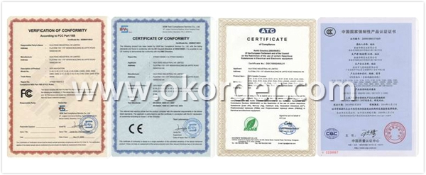 Certificates for Marine GPS Receiver 5.7 inch LCD