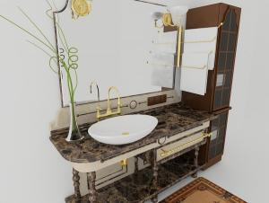 OLD FASHION BATHROOM FURNITURE