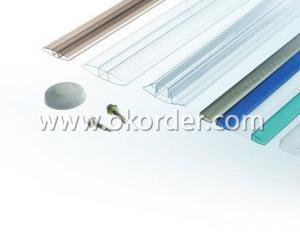 Different Kinds Of Polycarbonate Sheet Accessories With 10 Year Quality and UV Protection