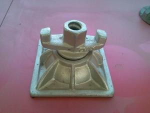 Hot Dip Galvanized Tie Rod Nut With Base Plate For 80mm