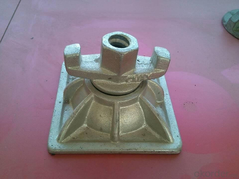 Cold Galvanized Tie Rod Nut With Base Plate For 100mm