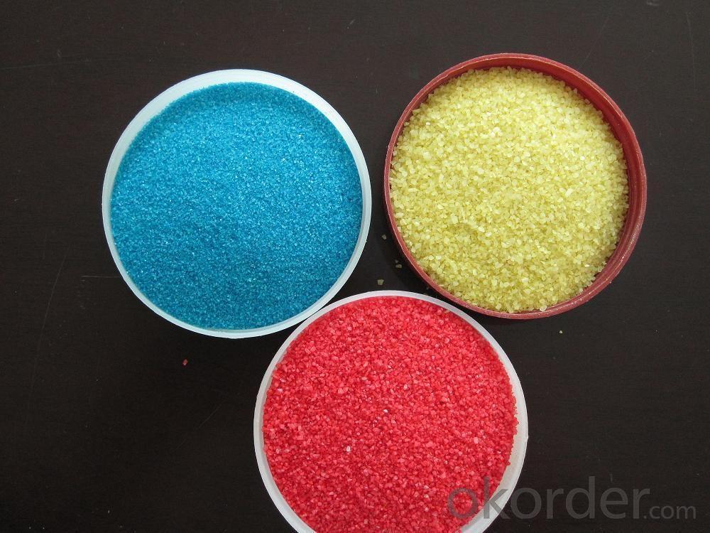 Multicolored Granules Light Yellow Color