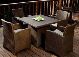 Outdoor Rattan Dining Set -- DT025