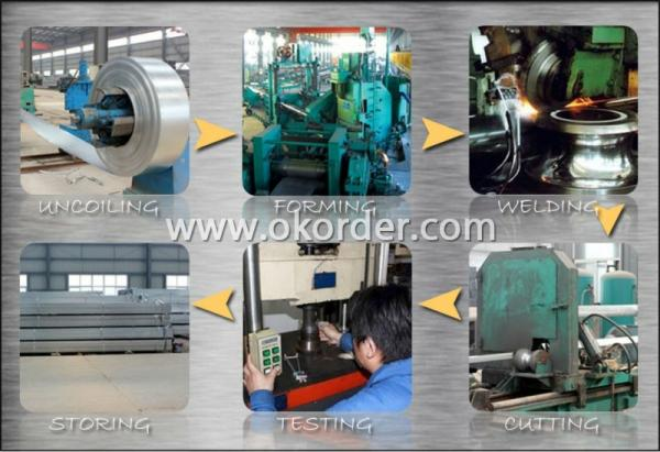 producing of Q345 Pre-Galvanized Pipe