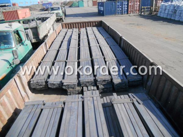Transporting the Flat Steel Bar to Port
