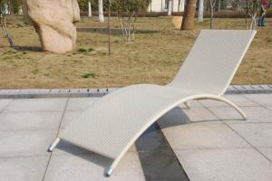 Aluminum Rattan Sun Lounger SL022