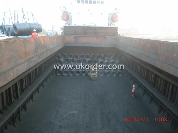 wire rod in bulk vessel