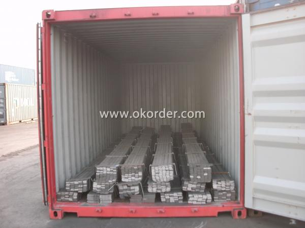 Loading the Flat Bar in Container