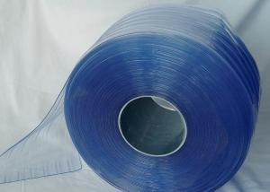 Polar PVC Strips Curtains in Blue Color