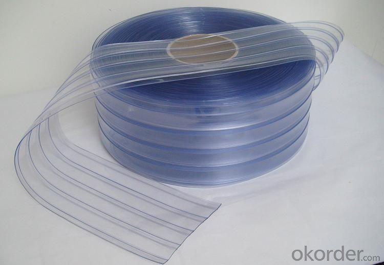 Polar PVC Strips Curtains in Blue Color