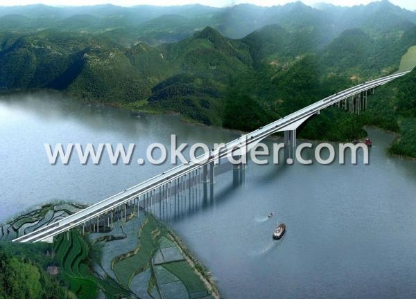 steel structure long span bridge