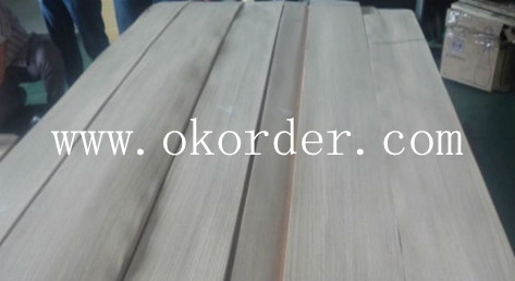 natural red oak veneer