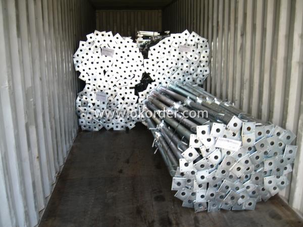 Hot Dip Galvanized Adjust U-head With Length 600mm