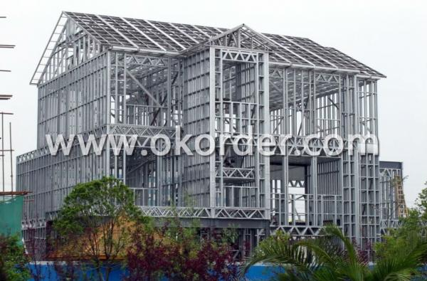 light steel structure for prefab house