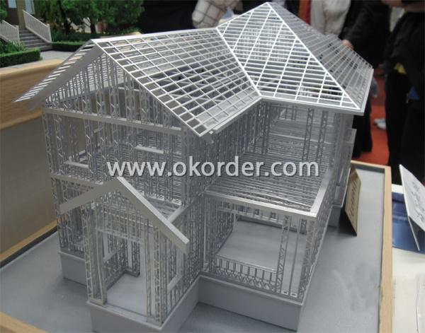 Steel structure of prefabricated Villa