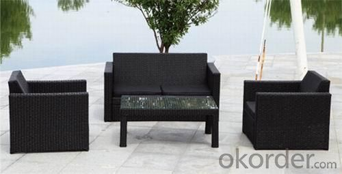 Aluminum Rattan Sofa Set